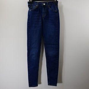 Topshop Moto Blue Jamie Skinny Jeans Size 25